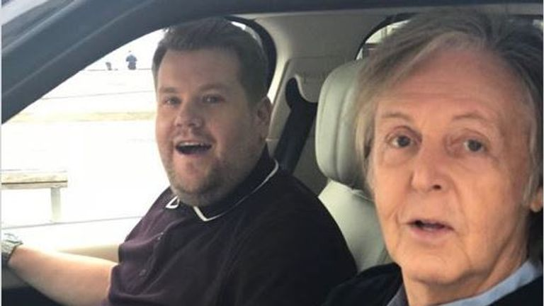 The pair took a car-tour around Liverpool. Pic. David Tomo