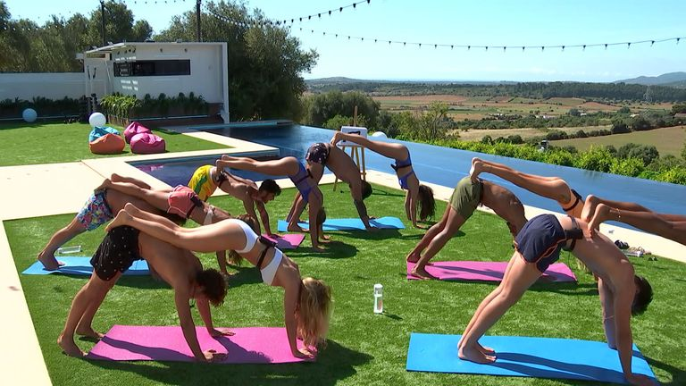 Yoga... But with a Love Island twist