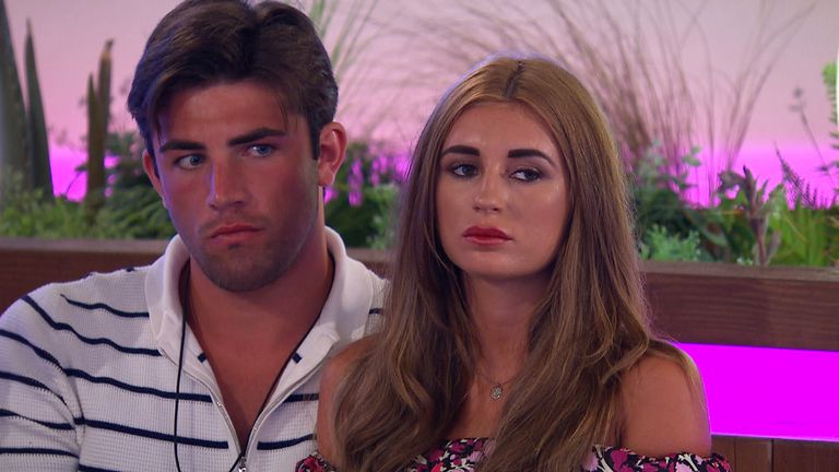 Dani Dyer with Biro salesmen Jack Fincham