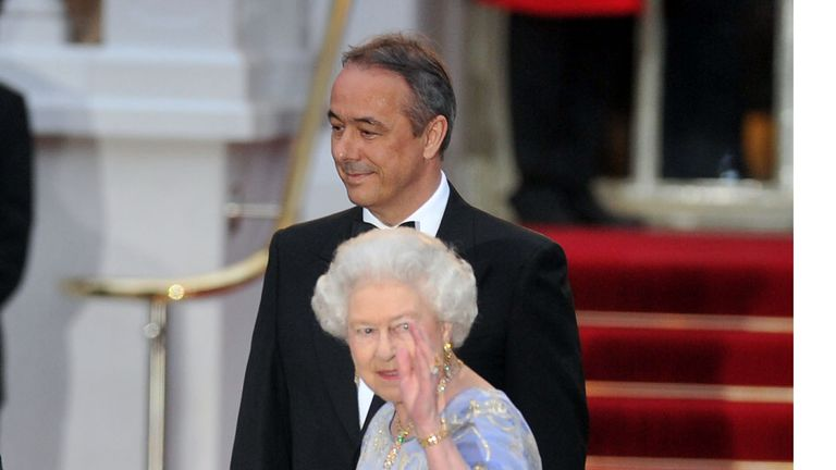 The Queen at the Mandarin Oriental Hyde Park hotel in 2011