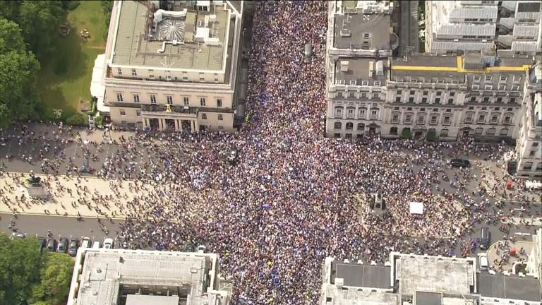 The People's Vote march is held on the second anniversary of the referendum, with thousands calling for a vote on the final deal.