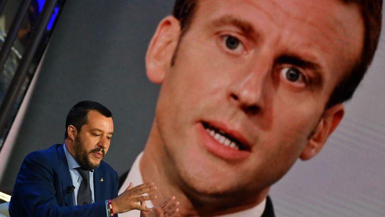 Italy's deputy prime minister Matteo Salvini
