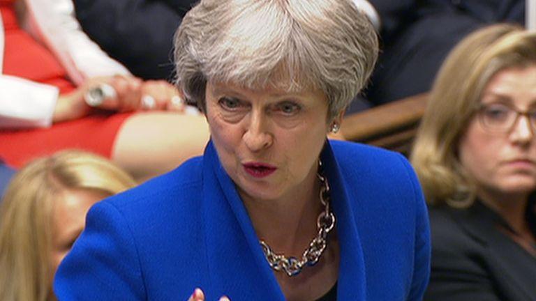 Theresa Maytalking at PMQs