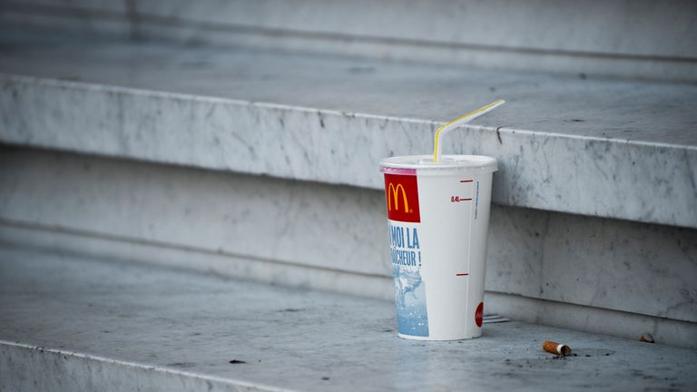 McDonald's branches in the UK and Ireland will withdraw plastic straws from September
