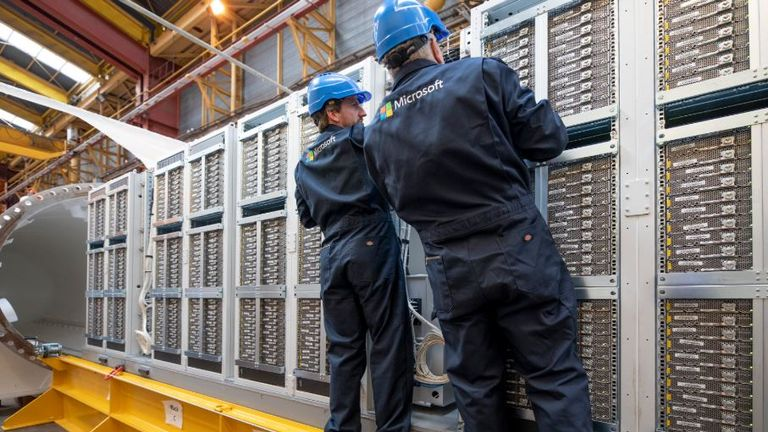 Data centres on land can take years to build. Pic: Microsoft