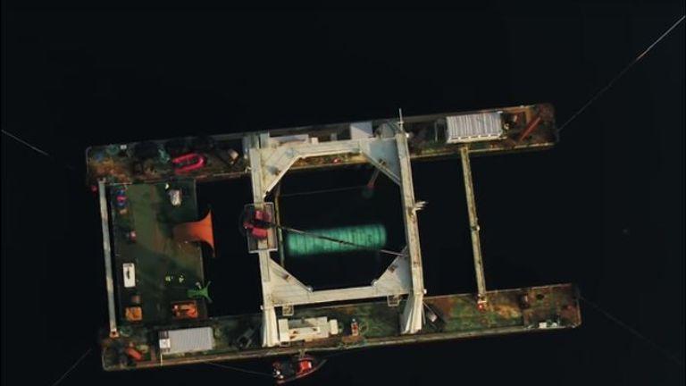 Microsoft data centre launched into sea
