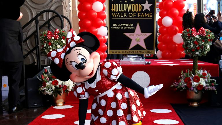 Minnie Mouse got her star on the Walk of Fame last year