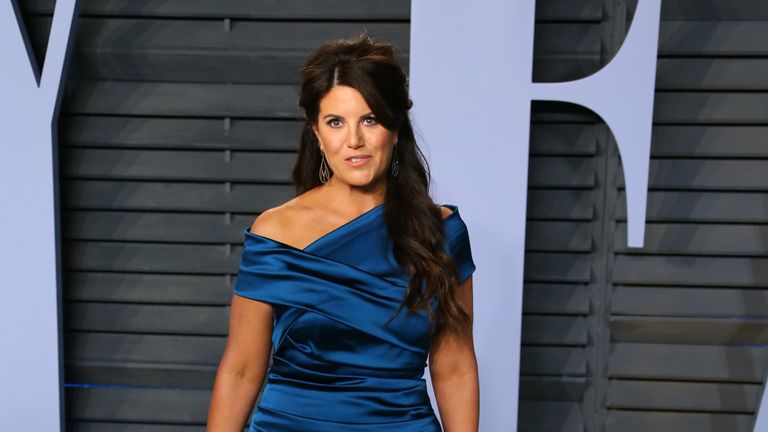 Monica Lewinsky attends the 2018 Vanity Fair Oscar Party following the 90th Academy Awards at The Wallis Annenberg Center for the Performing Arts in Beverly Hills, California, on March 04, 2018. / AFP PHOTO / JEAN-BAPTISTE LACROIX (Photo credit should read JEAN-BAPTISTE LACROIX/AFP/Getty Images)