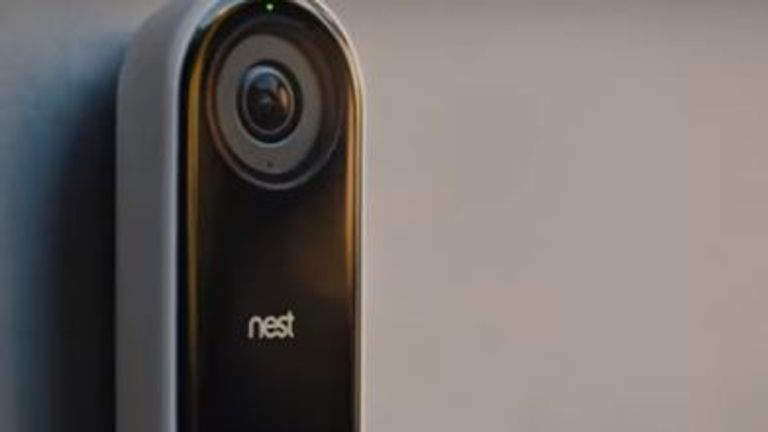The Nest Hello doorbell. Pic: Nest Hello