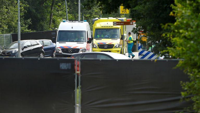Medics near the scene in Landgraaf