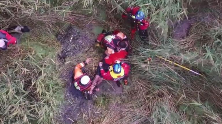 75-year-old Peter Pugh was airlifted out of the Norfolk marshes, after going missing during a family walk.