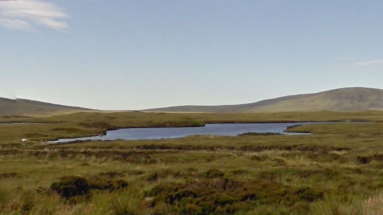 The helicopter crashed into a loch on North Uist in the Outer Hebrides