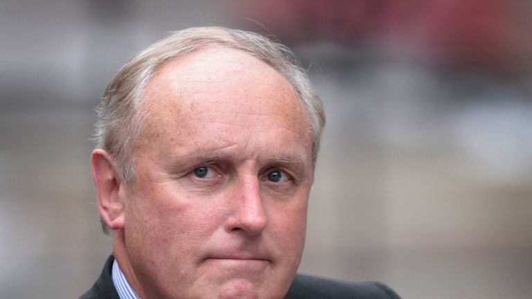 Paul Dacre, editor of The Daily Mail, arrives to give evidence to the Leveson Inquiry at The High Court on February 6, 2012 in London, England. The inquiry is being led by Lord Justice Leveson and is looking into the culture, practice and ethics of the press in the United Kingdom. The inquiry, which will take evidence from interested parties and may take a year or more to complete, comes in the wake of the phone hacking scandal that saw the closure of The News of The World newspaper. (Photo by P