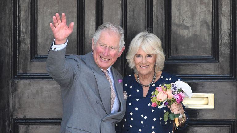 Prince Charles and the Duchess of Cornwall were there to boost morale