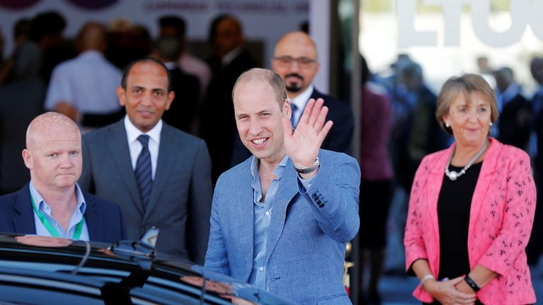 Prince William leaves Luminus Technical University College in Amman, Jordan