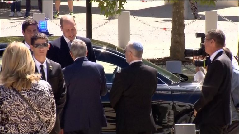 Prince William meets Israeli Prime Minister Netanyahu