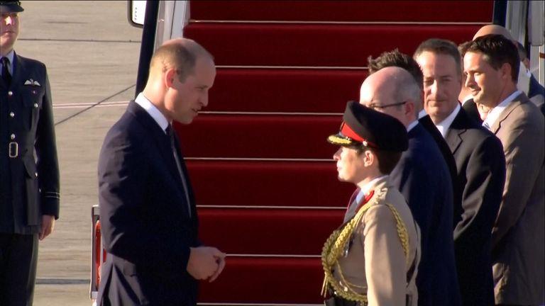 Prince William arriving in Tel Aviv