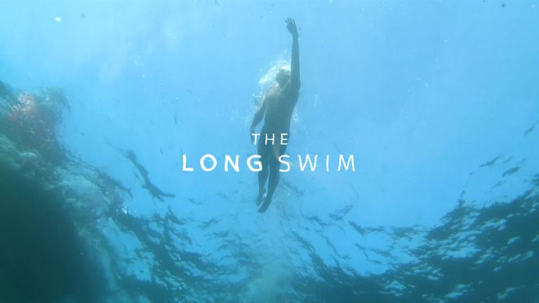 Lewis Pugh's long swim begins on 12 July