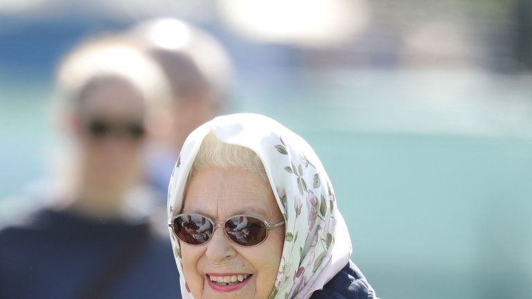 Queen Elizabeth II attends the third day of the Royal Windsor Horse Show