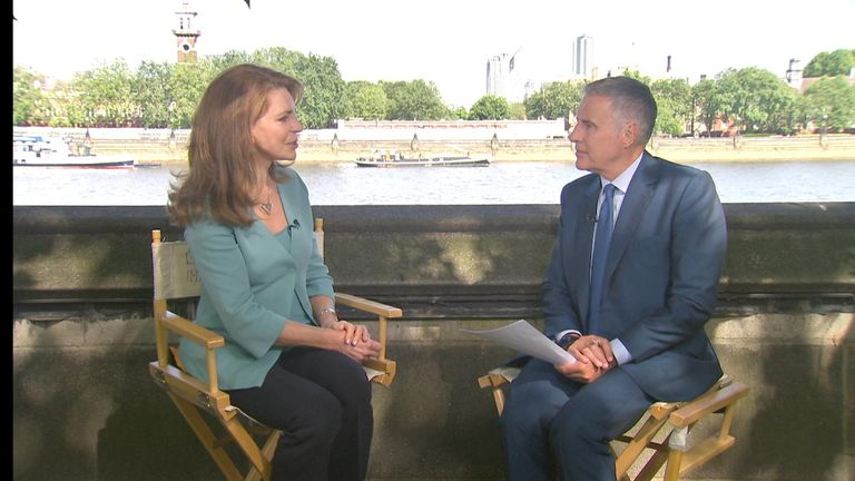 Queen Noor of Jordan and Dermot Murnaghan