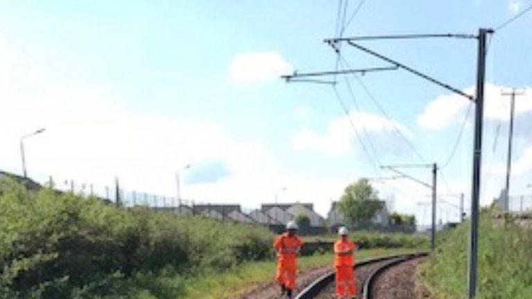 Buckled rails at Wishaw near Glasgow