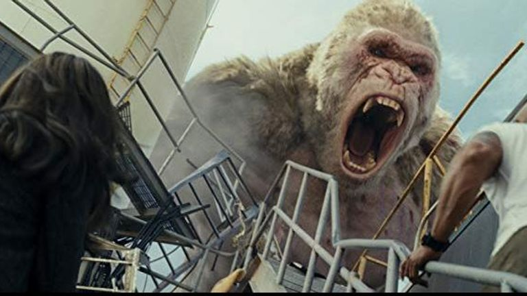 The film is inspired by King Kong, Godzilla and An American Werewolf In London