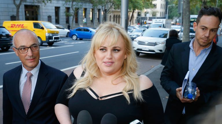 Rebel Wilson at the Court of Appeal in Melbourne. File pic