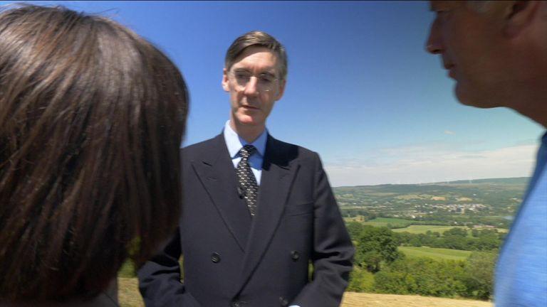 Mr Rees-Mogg talks to Mr Sheridan