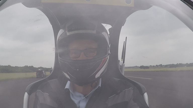 Sky News has been given an exclusive ride on the first self-driving motorcycle.