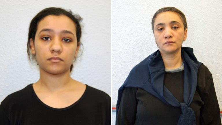 Rizlaine Boular, 22, has been jailed for a minimum of 16 years, and her mother, Mina Dich was jailed for six years and nine months