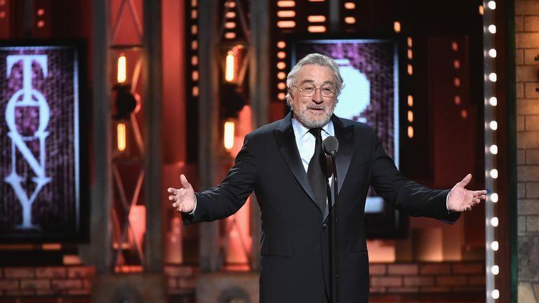 Robert De Niro speaks onstage during the awards ceremony in New York