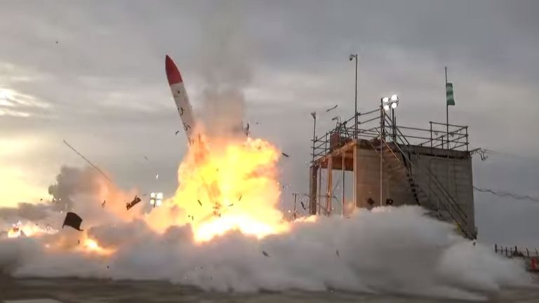 Rocket explosion in Japan. Pic: Interstellar Technologies