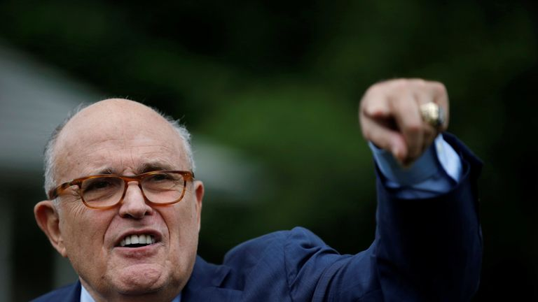 Rudy Giuliani, lawyer for Donald Trump