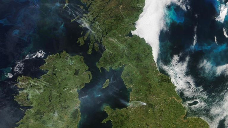 The true scale of the blaze has been captured by NASA's Terra satellite. Pic: University of Dundee