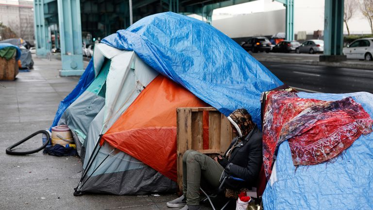 The foundation helps homeless people in San Francisco