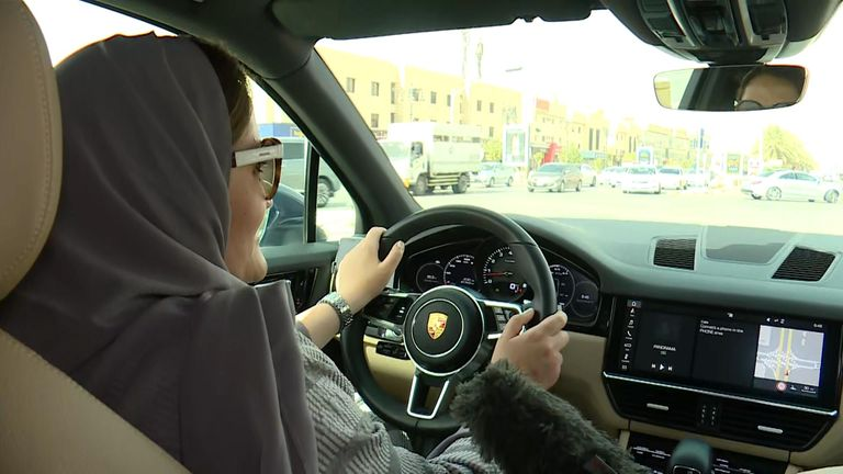 Women in Saudi Arabia are celebrating the lifting of a ban allowing them to drive for the first time.