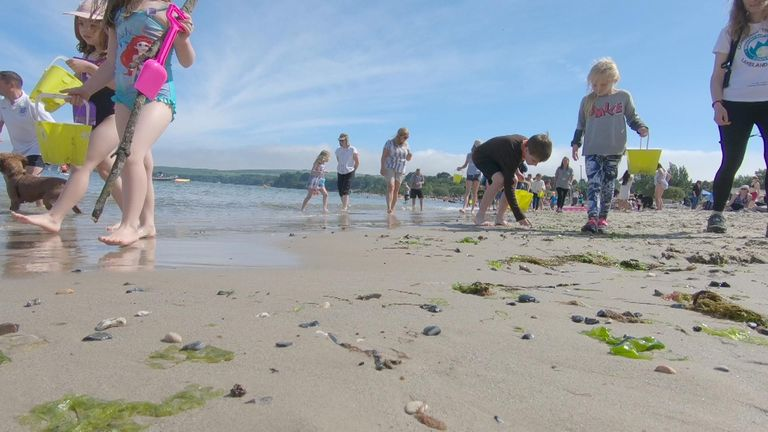 The beach can be a source of endless wonder for children
