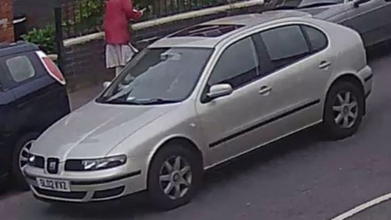 Officers are seeking anyone who saw this Seat Leon in Normanton on the day of the attack. Credit: Derbyshire police