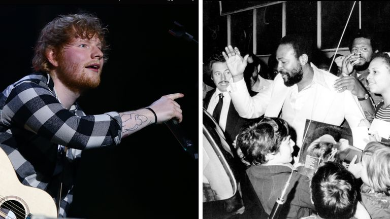 Ed Sheeran is being sued for 100 million dollars (#76.4 million) for allegedly ripping off parts of Marvin Gaye's classic Let's Get It On for his hit Thinking Out Loud.