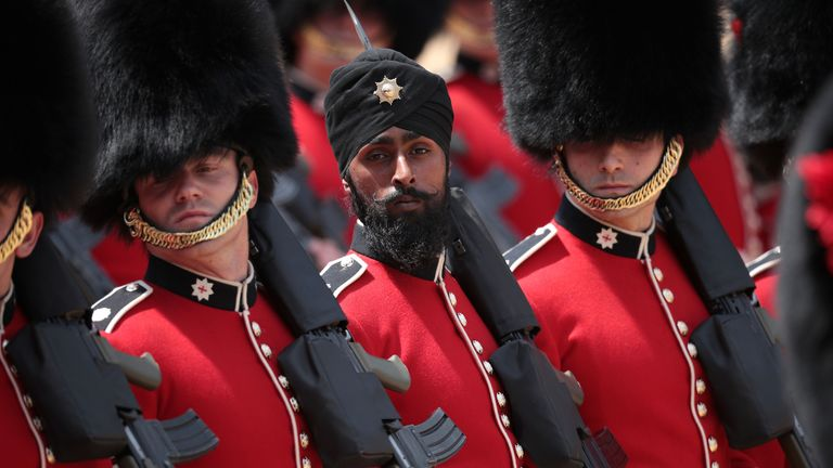The Guardsman during the ceremony on Saturday