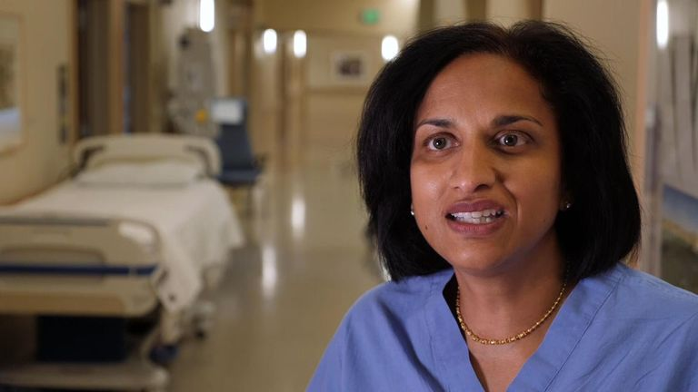 Dr Savitha Krishnan, a uro-gynaecologist at the El Camino hospital in Silicon Valley