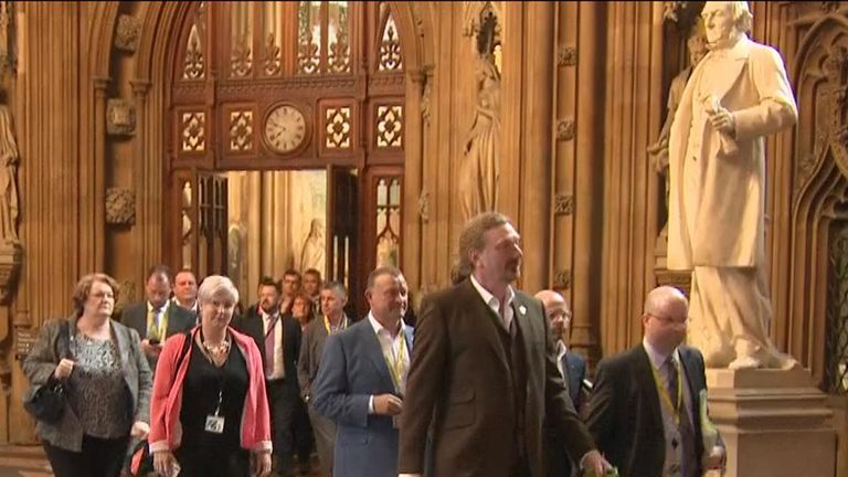 SNP MPs return to the House of Commons after earlier walkout