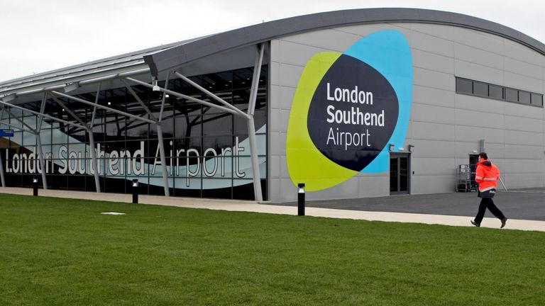 File photo dated 05/03/12 of the terminal building at London Southend Airport