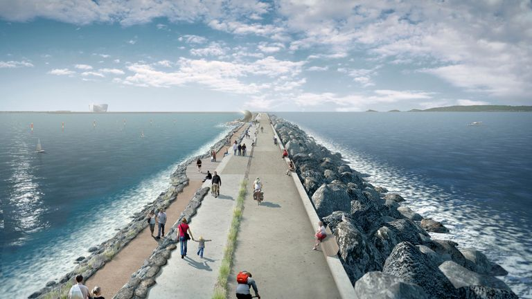 How the tidal project would look. Pic: Tidal Lagoon Power