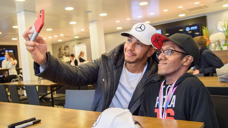 Tarun is a huge fan of Lewis Hamilton, who he has met during GOSH patient tours of the British Grand Prix