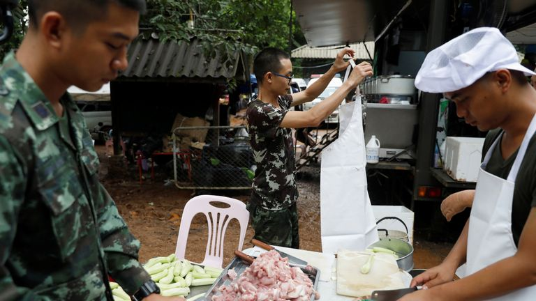 Soldiers have been brought in to help the rescue operation