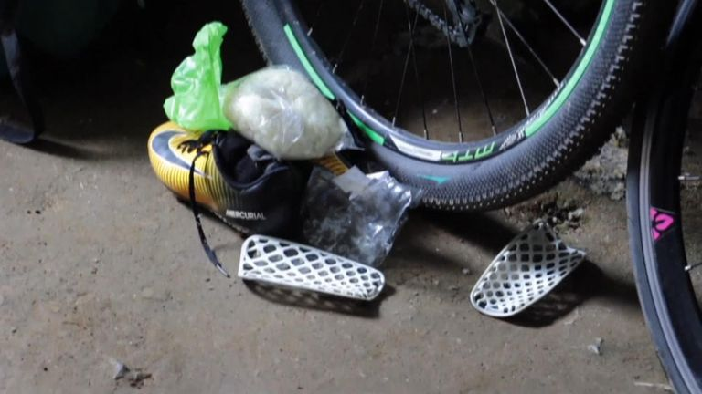 Bikes and backpacks belonging to the footballers were left at the cave's entrance