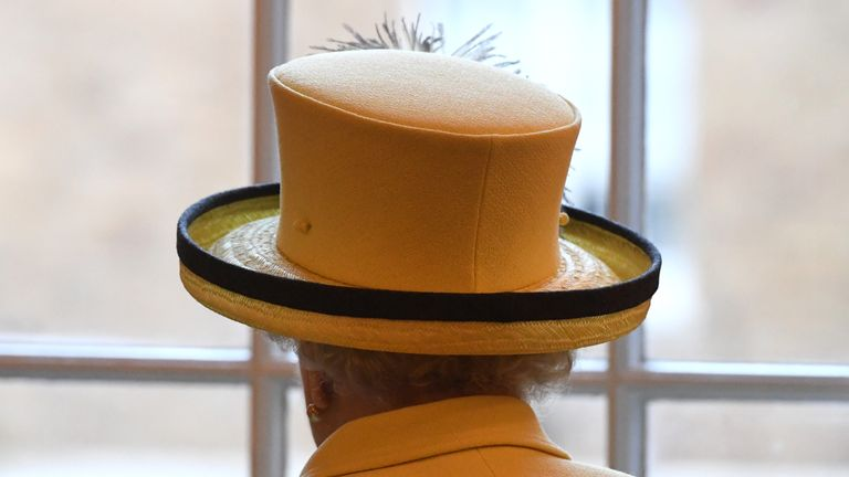Queen Elizabeth II visits a college. File pic