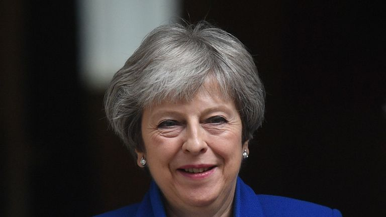Prime Minister Theresa May leaves 10 Downing Street, London, for the House of Commons to face Prime Minister's Questions