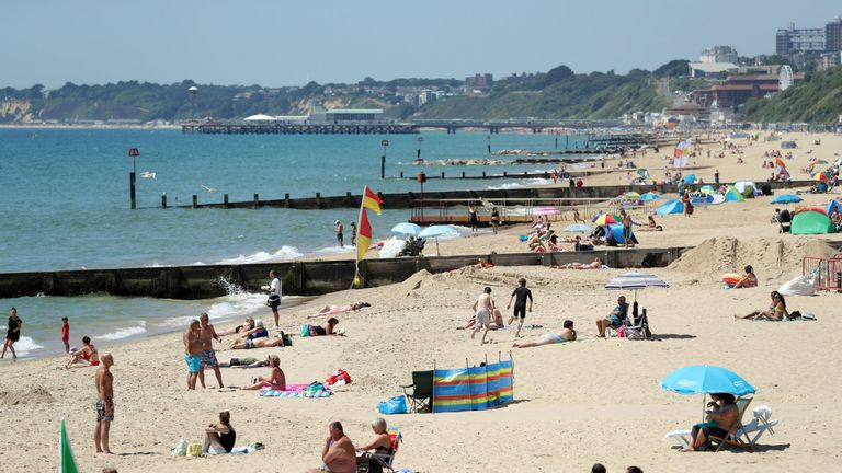 Boscombe Beach in Dorset